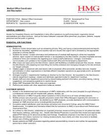 Asp Net Project Description In Resume by Office Coordinator Description Project Coordinator