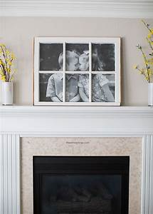 DIY Antique Window Picture Frame... great use for old ...