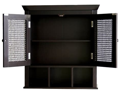 bathroom black corner wall cabinet with two shelf and