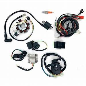 New Atv Wiring Harness Wire Loom Cdi Electric Stator Kit
