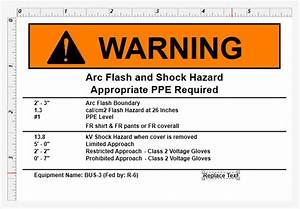 displaying different text based off a condition With arc flash policy template