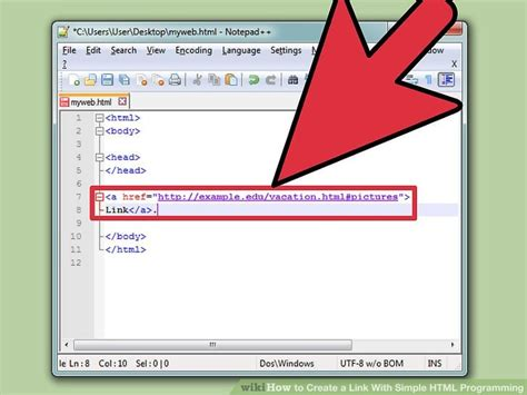 How Create Link With Simple Html Programming Steps