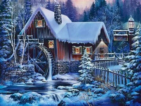 Beautiful winter wonderland Winter wallpaper Christmas