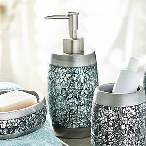 Mirrored mosaic accessories for bathroom useful reviews for Accessories for bathroom