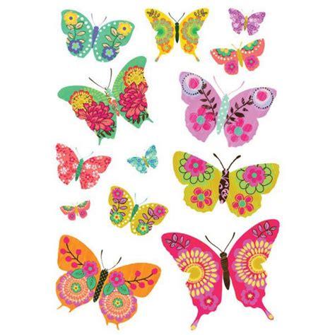 cuisine dessin animé stickers papillon multicolores stickers chambre original