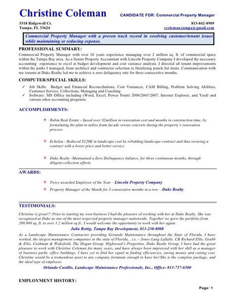 21955 property management resume 14 property manager resume riez sle