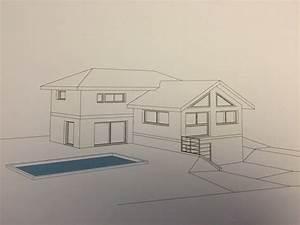 maison dessin realistes solutions pour la decoration With dessin de maison moderne
