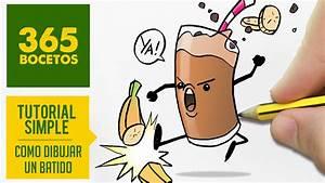 COMO DIBUJAR UN BATIDO KAWAII PASO A PASO Dibujos kawaii faciles How to draw a banana