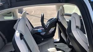 Quick Tesla X cream interior walkthrough - YouTube