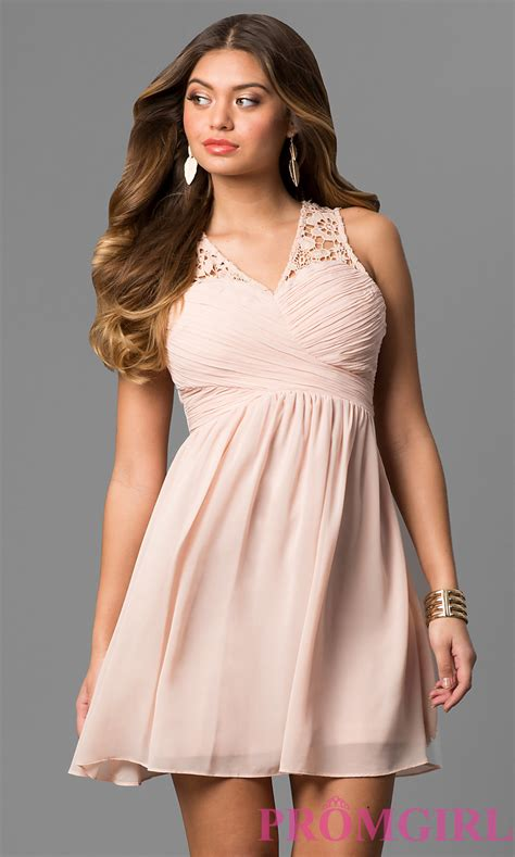 Short Ruched Graduation Party Dress - PromGirl
