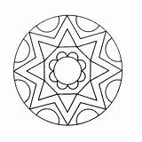 Mandala Kaleidoscope Coloring Pages Printable Books Q4 sketch template