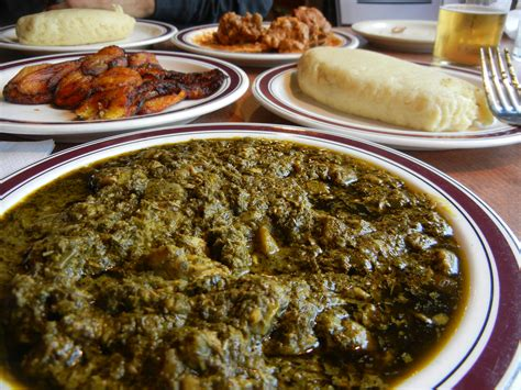 cuisine congolaise rdc traditional congolese meal fufu casava leaf stew