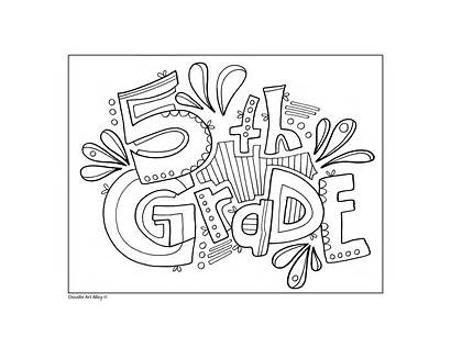 Grade Signs 5th Coloring Pages Classroom Doodles