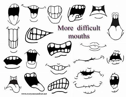 Mouths Cartoon Drawing Draw Cartoons Difficult Secondary