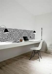 Bureau Blanc Simple : comment d corer un bureau laqu blanc 61 photos inspirantes ~ Teatrodelosmanantiales.com Idées de Décoration