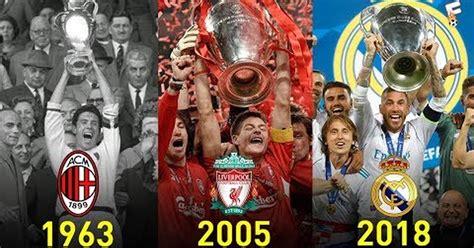 [ MEMEDEPORTES ] Ganadores de la UEFA Champions League ...