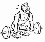 Weight Lifting Coloring Coloringcrew sketch template