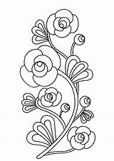 Embroidery Printable Coloring Flowers Mexican Patterns Novaukraina sketch template
