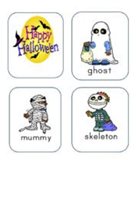 English Teaching Worksheets Halloween Flashcards