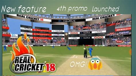 omg real cricket  added  feature   promo beat wcc  wcb youtube