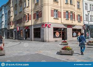 KFC restaurant in Ostrava editorial stock photo. Image of restaurant - 165258828