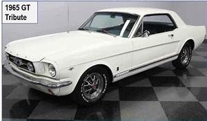 1965 Ford Mustang Sportscar White Rwd Manual Gt A Class