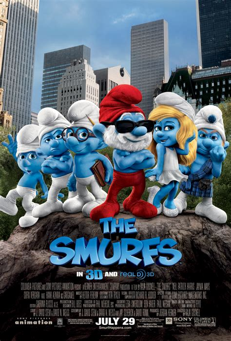 Smurfs Font and The Smurfs Poster