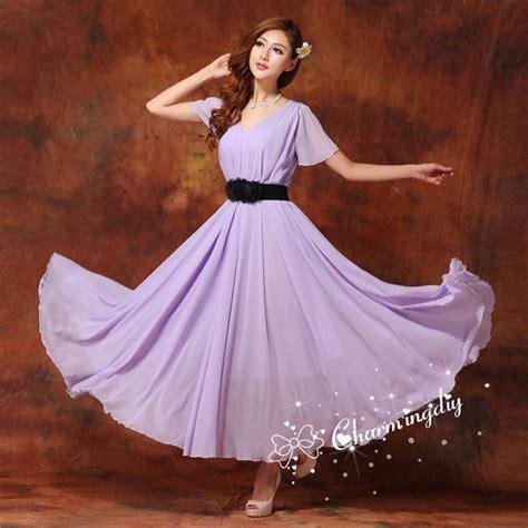 light purple sundress 60 colors chiffon light purple dress