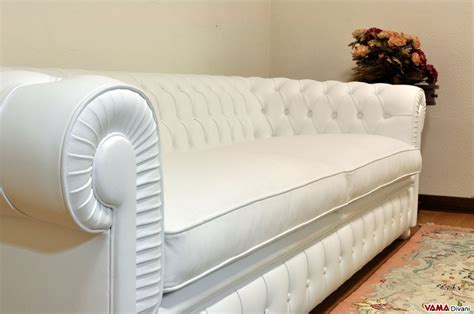 Deeper Chesterfield White Sofa