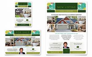 Real estate flyer ad template design for Real estate brochure examples