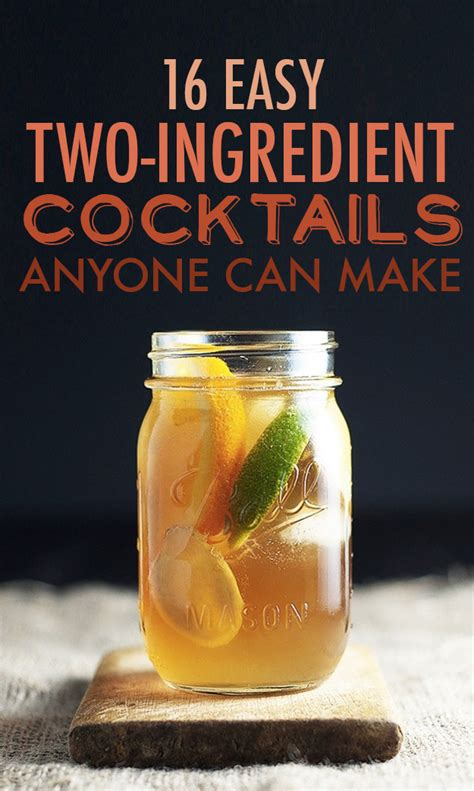 two ingredient cocktails anyone can make
