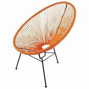 Fauteuil Maison Du Monde : fauteuil de jardin rond orange copacabana maisons du monde ~ Teatrodelosmanantiales.com Idées de Décoration