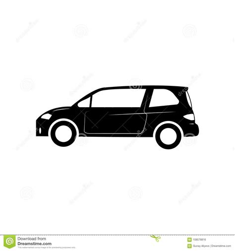 Small Hatchback Icon. Car Type Simple Icon. Transport