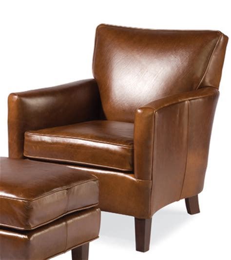 nigel leather club chair by sam moore home gallery stores
