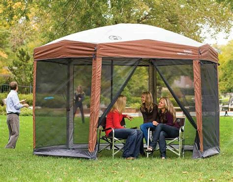 coleman  screened canopy tent screenhouse  instant