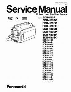 Panasonic Sdr H80p Video Camera Service Manual Download