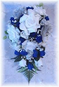 blue silver wedding bouquet | Wedding Flowers | Pinterest