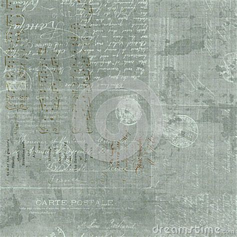 vintage french letter script collage background stock