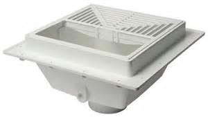 squaremax pvc square floor sink with half open strainer at menards 174