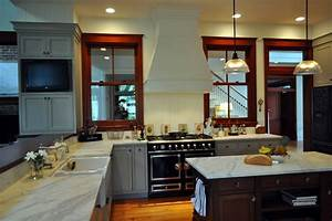 Cherry Wood Kitchen Traditional with Fruit Bowls Baskets