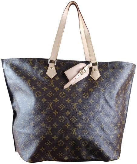 louis vuitton     mm tote monogram brown