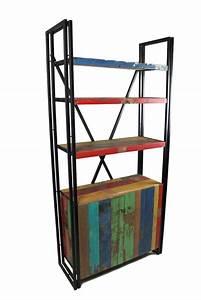 Bücherregal Metall Holz : b cherregal mit t ren aus teak recyclingholz und metall ready 2 buy das m belhaus in hamburg ~ Sanjose-hotels-ca.com Haus und Dekorationen