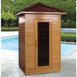 the outdoor infrared sauna hammacher schlemmer
