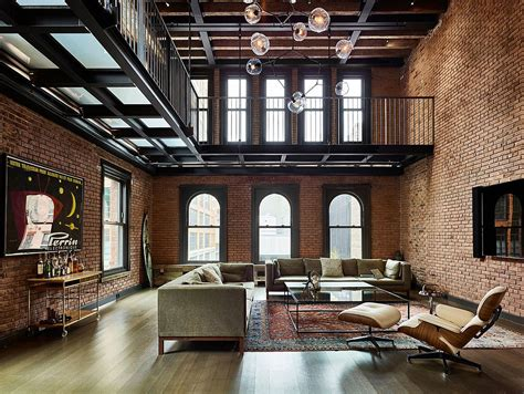 modern industrial 1890 s new york apartment turned into exquisite penthouse