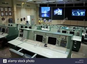 NASA historic mission control room, Houston, Texas, USA ...