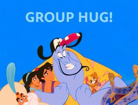 Group Hug Meme - group hug genie aladdin jasmine carpet abu and the sultan aladdin aladdin jr