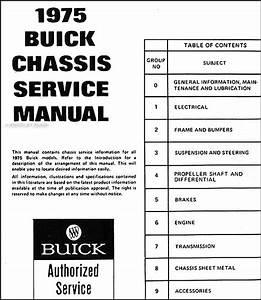 1975 Buick Repair Shop Manual Original
