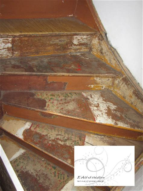 comment d 233 caper un escalier en bois vernis de