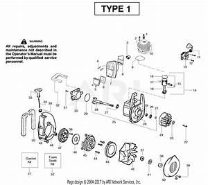 Poulan Pbv200le Gas Blower Type 1 Parts Diagram For Engine Type 1