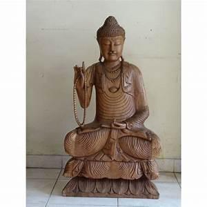 Statue De Bouddha : statue bouddha bois de l 39 enseignement meubles ~ Teatrodelosmanantiales.com Idées de Décoration